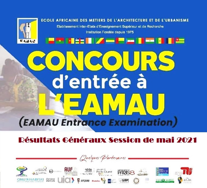 Résultats Généraux du Concours d'entrée à l'EAMAU session de mai 2021
